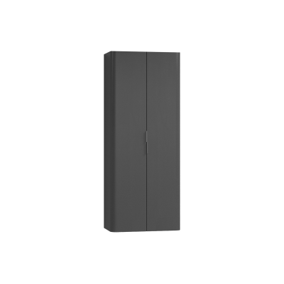 Nest Trendy Tall Unit, 2 Doors, Anthracite High Gloss