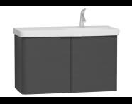 56200 - Nest 2 Doors Washbasin Unit 100 cm, Anthracite