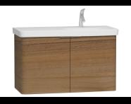 56201 - Nest 2 Doors Washbasin Unit 100 cm, Waved Natural Wood