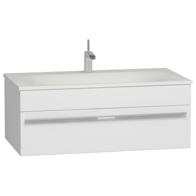 System Infinit Washbasin Unit 100 cm, Soft Moulded with Sink