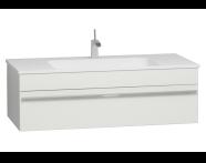 56241 - System Infinit Washbasin Unit 120 cm, Hidden Syphon with Sink