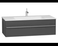 56243 - System Infinit Washbasin Unit 120 cm, Hidden Syphon with Sink