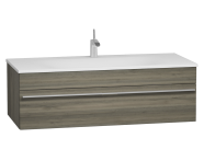 56245 - System Infinit Washbasin Unit 120 cm, Soft Moulded with Sink