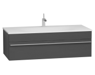 56246 - System Infinit Washbasin Unit 120 cm, Soft Moulded with Sink