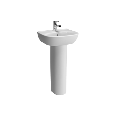 Zentrum Basin, 45 cm, with Middle Tap Hole, with Overflow Holes