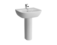 5633L003-0001 - Zentrum Basin, 60cm with Middle Tap Hole, with Overflow Holes