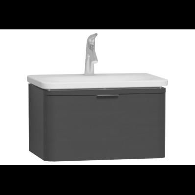 Nest Trendy Washbasin Unit, 1 Drawer, without Basin, 60 cm, High Gloss White