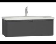 56411 - Nest Trendy Washbasin Unit, 1 Drawer, without Basin, 100 cm, High Gloss White