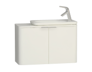 56416 - Nest Trendy Narrow Washbasin Unit 80 cm, White