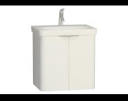 56433 - Nest 2 Doors Washbasin Unit 60 cm, White