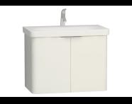 56434 - Nest 2 Doors Washbasin Unit 80 cm, White