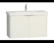 56435 - Nest 2 Doors Washbasin Unit 100 cm, White
