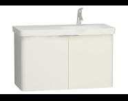 56436 - Nest 2 Doors Washbasin Unit 100 cm, White