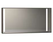 56476 - Memoria Illuminated Mirror, 120 cm, Matte Walnut