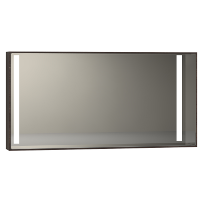 Memoria Illuminated Mirror, 120 cm, Chestnut