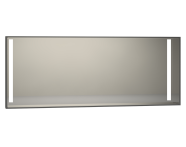 56480 - Memoria Illuminated Mirror, 150 cm, Grey High Gloss