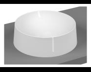5650B401H0016 - Frame Round Bowl Washbasin, Matte White
