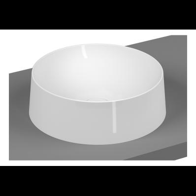 Frame Round Bowl Washbasin, Matte White