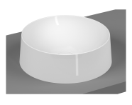 5650B403H0016 - Frame Round Bowl Washbasin, White