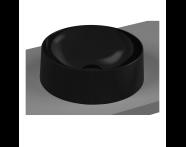 5650B470-0016 - Frame Round Bowl Washbasin, Black