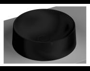 5650B483-0016 - Frame Round Bowl Washbasin, Matte Black