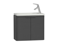 56514 - Nest Trendy Narrow Washbasin Unit, without Basin, 60 cm, Grey Natural Wood