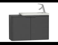 56518 - Nest Trendy Narrow Washbasin Unit, without Basin, 80 cm, Grey Natural Wood