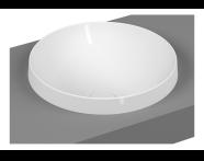 5651B401-0016 - Frame Round Countertop Washbasin, Matte White