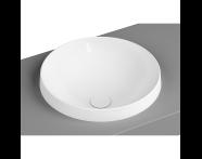 5651B403H0016 - Frame Round Countertop Washbasin, White