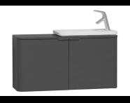 56521 - Nest Trendy Narrow Washbasin Unit, without Basin, 100 cm, Waved Natural Wood