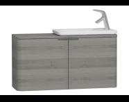 56522 - Nest Trendy Narrow Washbasin Unit, without Basin, 100 cm, Grey Natural Wood