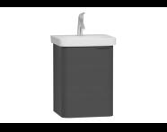 56527 - Nest Washbasin Unit, without Basin, 45 cm, High Gloss White, Right