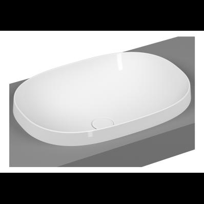 Frame Oval Countertop Washbasin, Matte White - VitrA UK