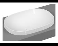 5652B401H0016 - Frame Oval Countertop Washbasin, Matte White