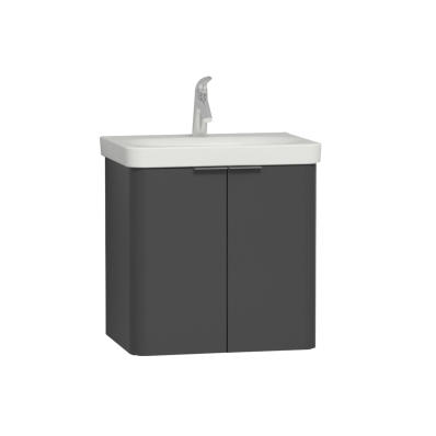 Nest Washbasin Unit, with Doors, without Basin, 60 cm, High Gloss White