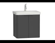 56533 - Nest Washbasin Unit, with Doors, without Basin, 60 cm, Waved Natural Wood