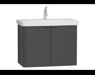 56535 - Nest Washbasin Unit, with Doors, without Basin, 80 cm, High Gloss White