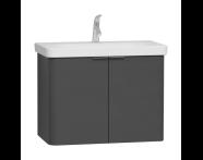 56536 - Nest Washbasin Unit, with Doors, without Basin, 80 cm, Anthracite