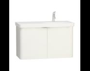 56539 - Nest Washbasin Unit, with Doors, without Basin, 100 cm, High Gloss White