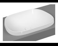 5653B401H0016 - Frame Tv Countertop Washbasin, Matte White