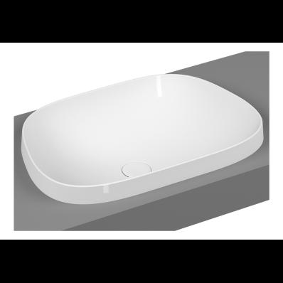Frame Tv Countertop Washbasin, Matte White