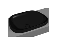 5653B470-0016 - Frame TV shaped countertop basin, 57 cm, without tap hole, without overflow hole, black