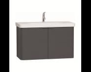 56540 - Nest Washbasin Unit, with Doors, without Basin, 100 cm, Anthracite