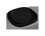 5654B470-0016 - Frame Square countertop basin, 41 cm, without tap hole, without overflow hole, black