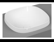 5654B470H0016 - Frame Square Countertop Washbasin, Black