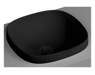 5654B483-0016 - Frame Square countertop basin, 41 cm, without tap hole, without overflow hole, matte black