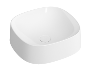 5655B401-0016 - Frame Square Bowl Basin, Matte White