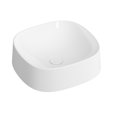 Square Bowl Sink, 40 cm, Matte White