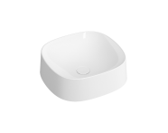 """5655B401H0016 - """"Frame Square bowl, 40 cm, without tap hole, without overflow hole, matte white"""""""