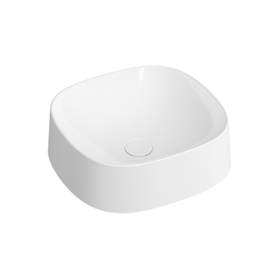 """""""Frame Square bowl, 40 cm, without tap hole, without overflow hole, matte white"""""""
